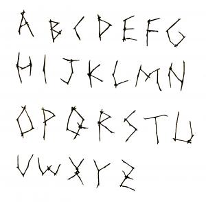 枝文字アルファベット
